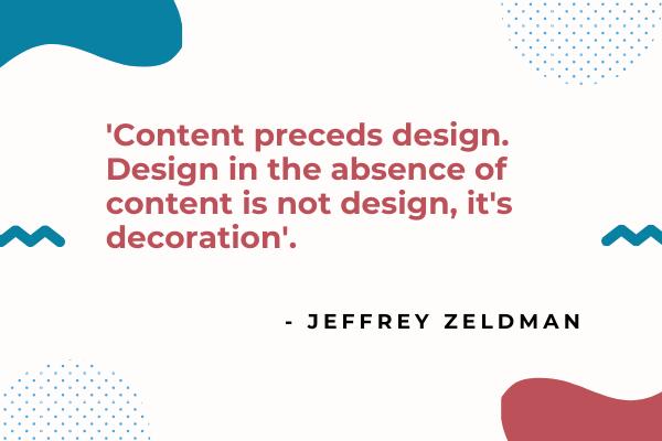 Planning a website content