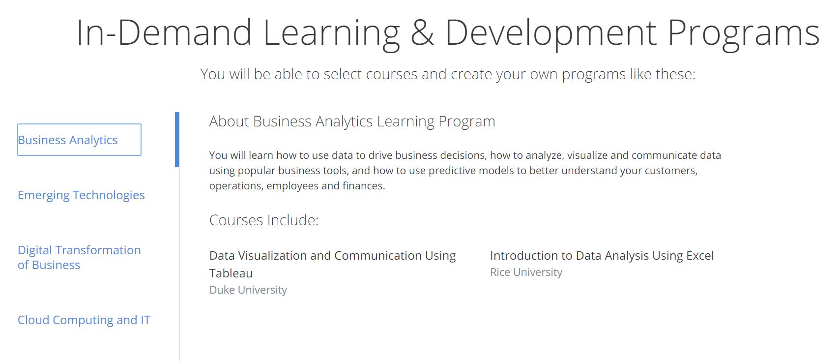 Coursera for Enterprises