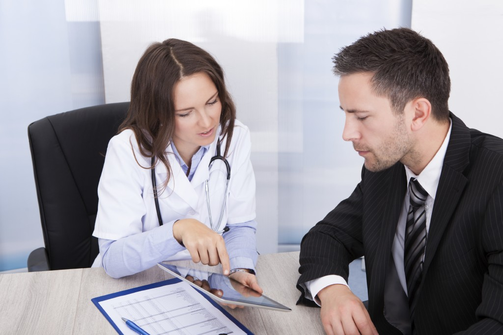 pharma sales meeting with a doctor