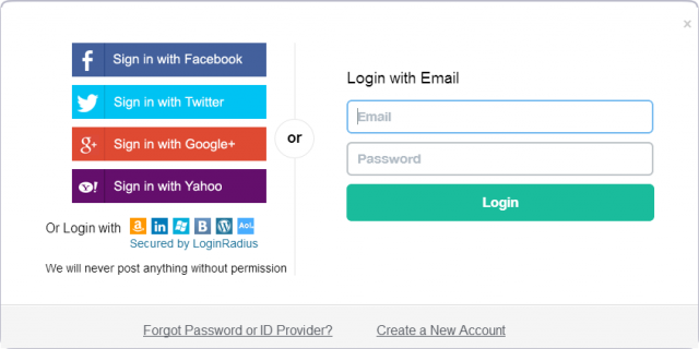 This is what social login looks like