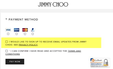 JimmyChooCheckoutEmailConsentOptinPermission