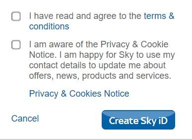 Sky Privacy Policy