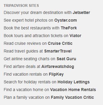 TripAdvisor's products