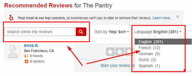 Yelp Recommendation