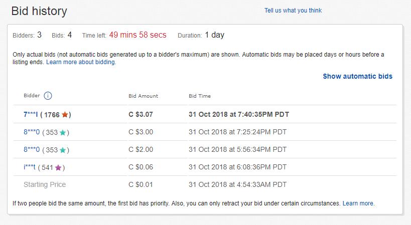ebay bid history