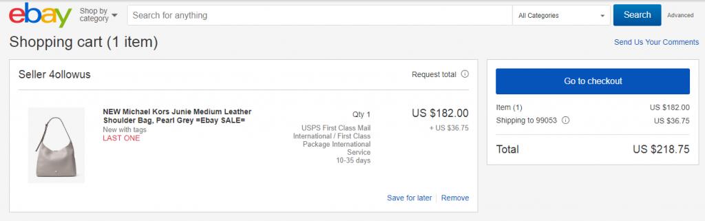cart in eBay