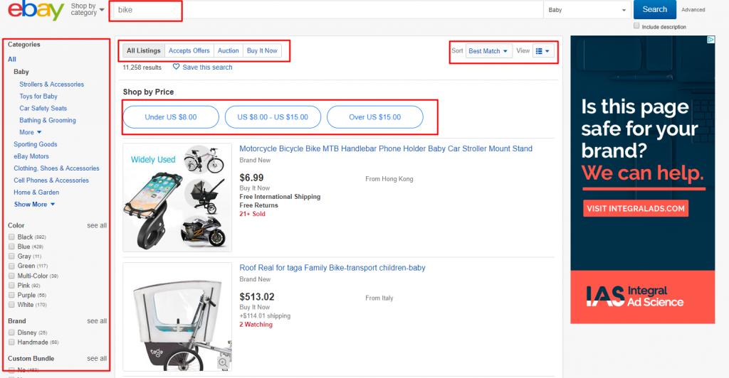 search on eBay