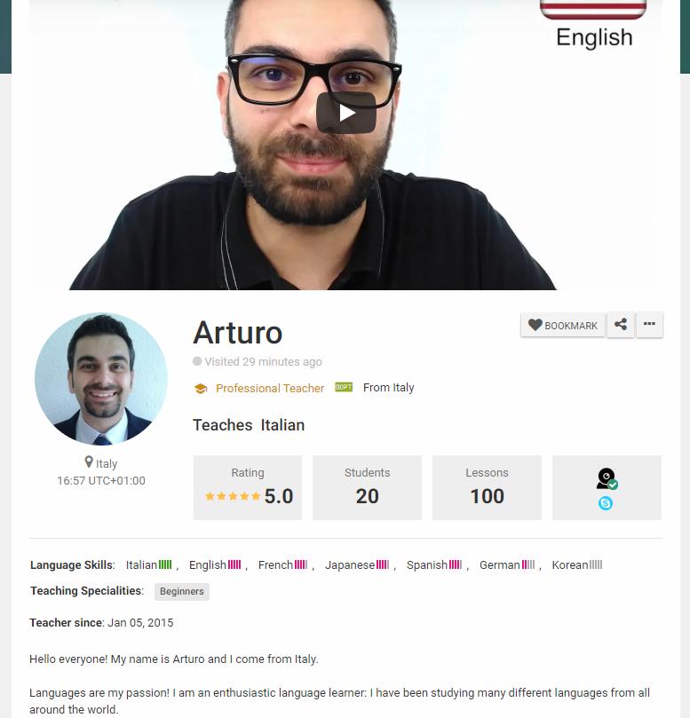 teacher's profile