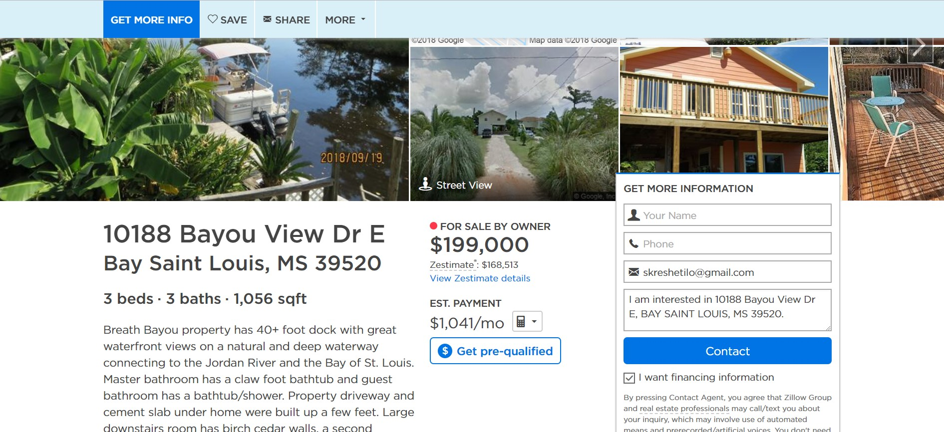 listings page zillow