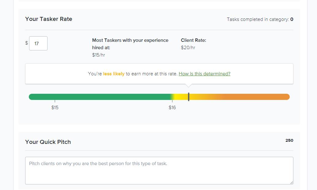 TaskRabbit rating price