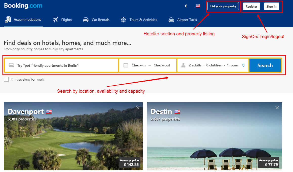 booking marketplace