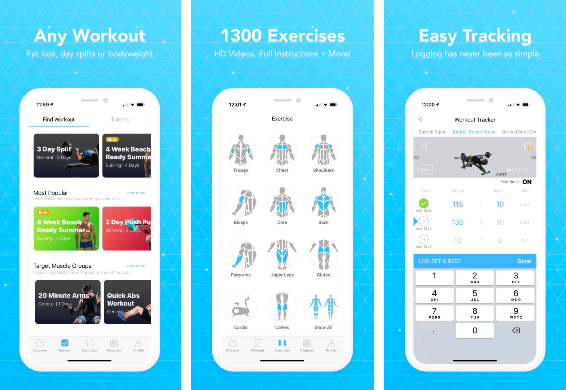 create your own workout app android