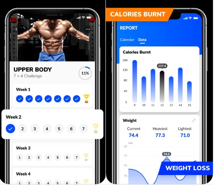 Progress tracking on exercises