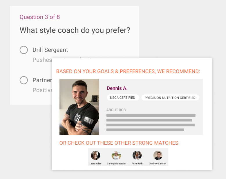 Personal coach feature