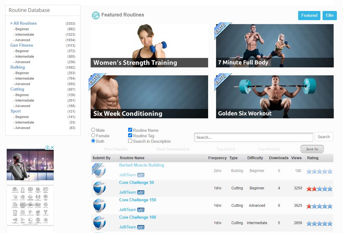 create workout plan app