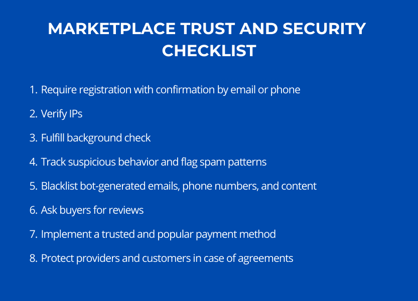 trust and security of a marketplace