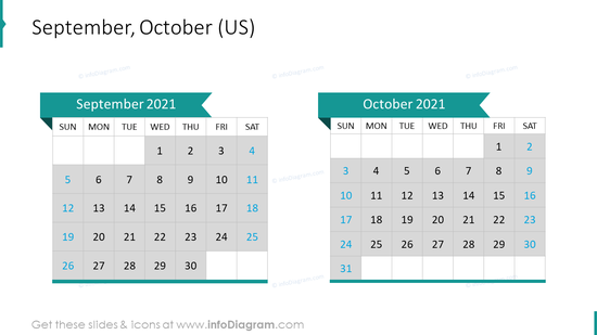 September October 2020 US Calendar
