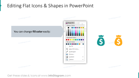 Editability of flat icons in PowerPoint
