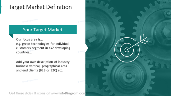 Target market definition with picture background