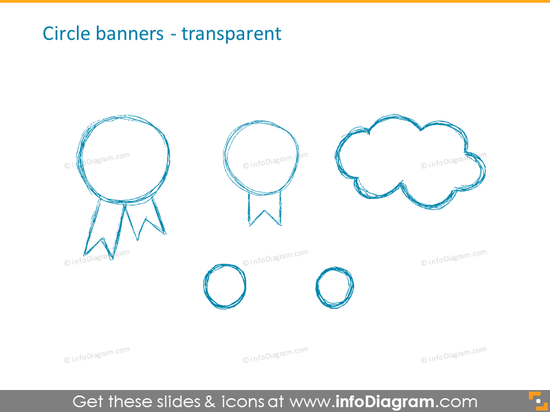 Circle transparent banners