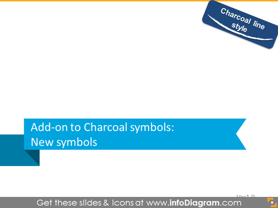New charcoal symbols section slide