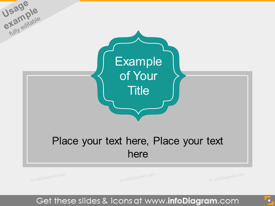 Curved Flat Title Banner Metro Style powerpoint