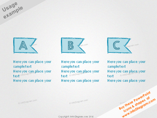 Scribbled Title Banner Retro Pencil A B C item ppt clipart