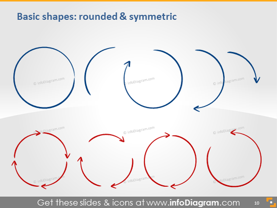Shapes rounded symmetric icons ppt clipart