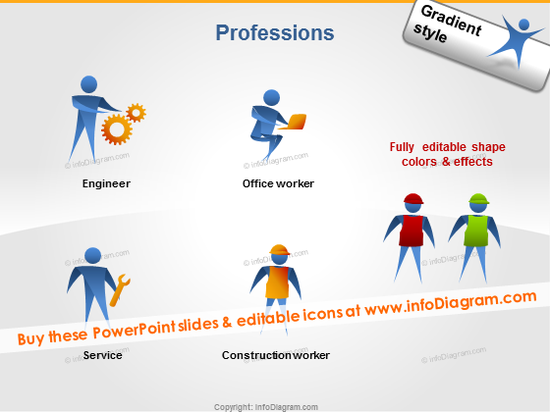 jobs people icon engineer serviceman construction worker