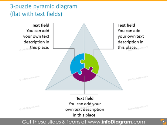 5 parts puzzle integrity diagram grey gradient text ppt icons