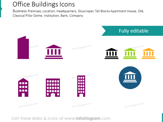 Buildings for offices, institutions and governmental structures