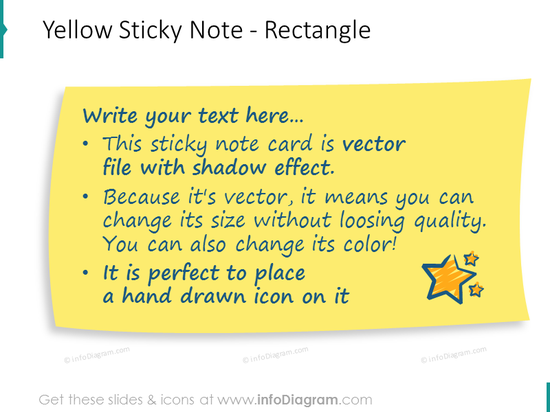 yellow postit card rectangle transparent picture for ppt