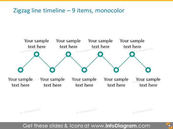 timeline infographic maker template 9 items