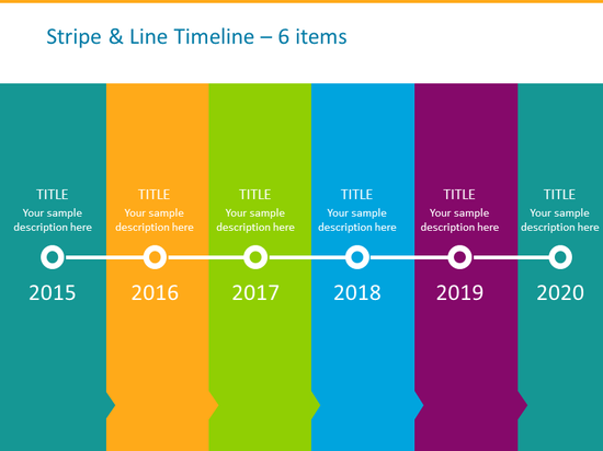 vertical timeline template colorful