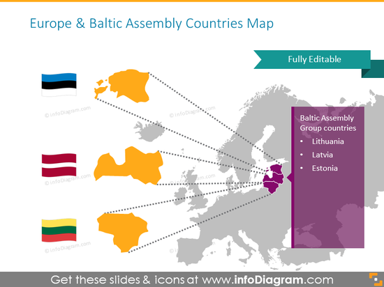 Baltic Assembly countries map