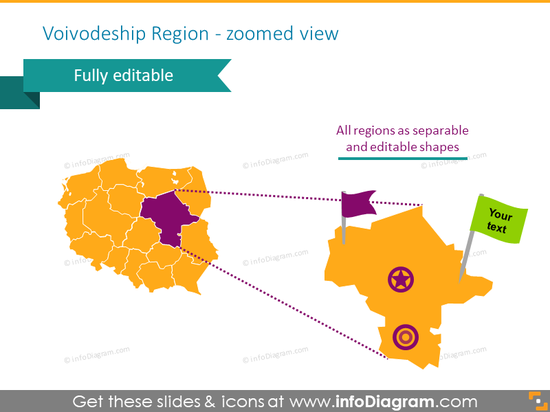 Zoomed view to polish administrative division