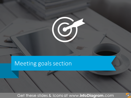 Meeting goals slide template for business meetings