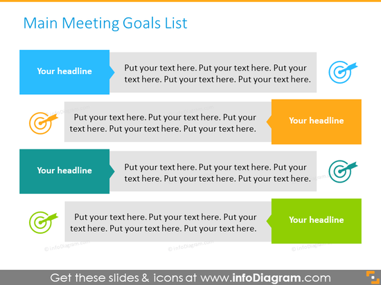 Main meeting goals two-sided list