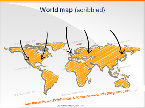 world map scribbled supply chain powerpoint