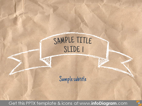 title slide sketch banner white pencil