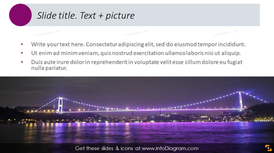 Text template with horizontal picture