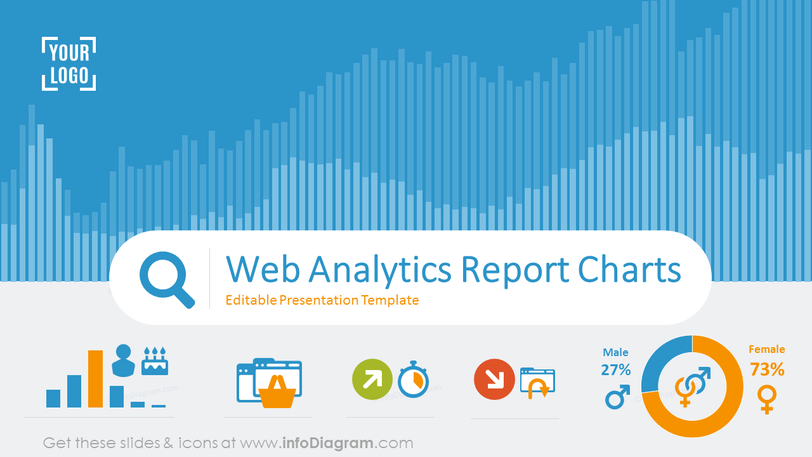 Web Analytics Report Charts (PPT Template)