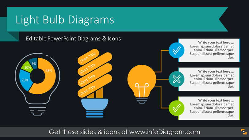 Light Bulb Idea Infographics (PPT Template)