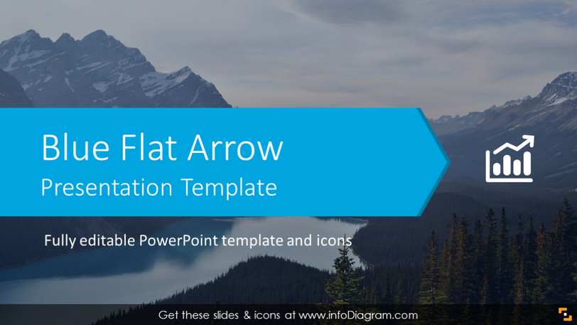 Blue Flat Arrow Presentation Template (PPTX slide deck)