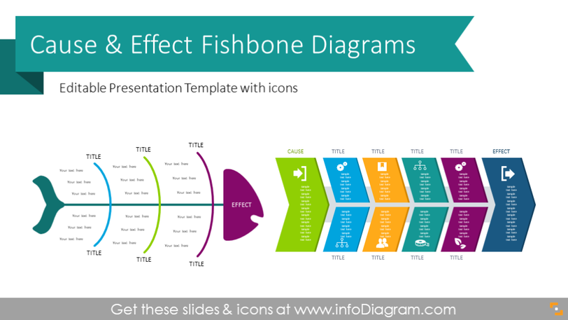 Cause & Effect Fishbone Diagrams (PPT graphics)