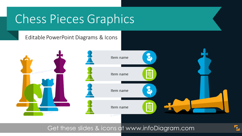 Chess Pieces Graphics (PPT Template)