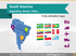 Maps of South America Countries (PPT icons Population, GDP, transport)