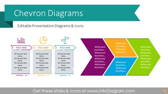 Chevron Timeline Diagrams Template (PPT graphics)