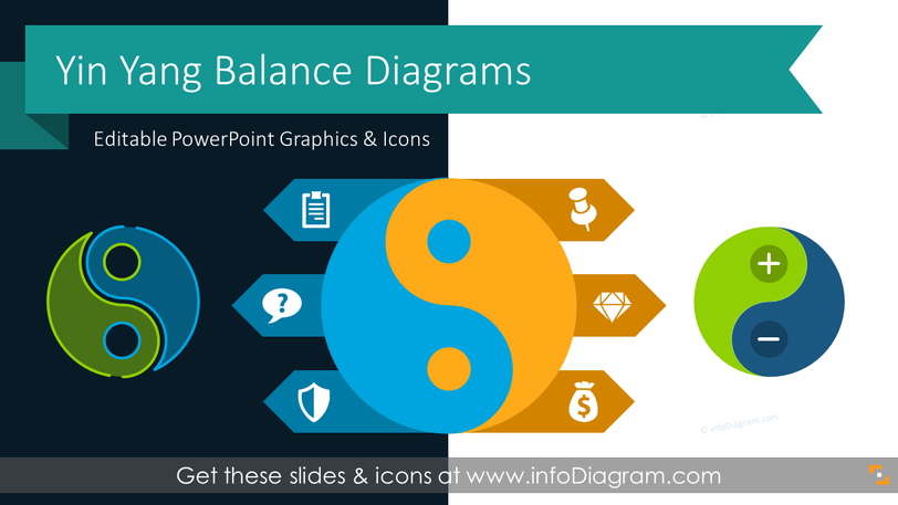 Yin Yang Balance Diagrams (PPT Template)