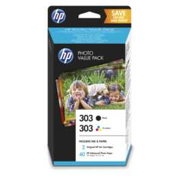 HP Photo Value Pack 303 Noir + Tri Couleur